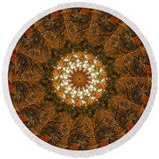 Autumn Mandala 4 Round Beach Towel