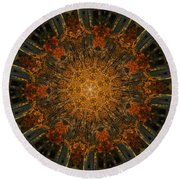 Autumn Mandala 6 Round Beach Towel