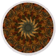 Autumn Mandala 7 Round Beach Towel