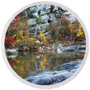 Autumn On The Black River 1 Round Beach Towel