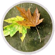 Autumn Pair Round Beach Towel