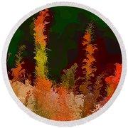 Autumn Pastel Round Beach Towel by Tom Prendergast