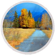 Autumn Perspective Round Beach Towel