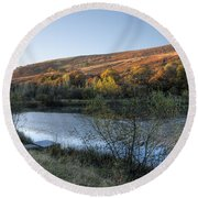 Autumn Pond 3 Round Beach Towel