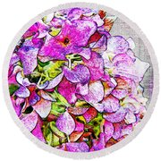 Autumn Purple II Round Beach Towel