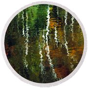 Autumn Reflections 1 Round Beach Towel