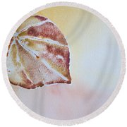 Autumn Shimmer Round Beach Towel