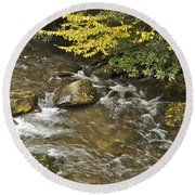 Autumn Stream 6149 Round Beach Towel