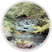 Autumn Streams Round Beach Towel