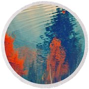 Autumn Vision Round Beach Towel