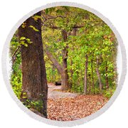 Autumn Walk - Impressions Round Beach Towel