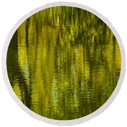 Autumn Water Reflection Abstract IIi Round Beach Towel