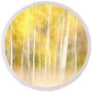 Autumns Abstract Round Beach Towel