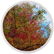 Autumns Beauty Round Beach Towel