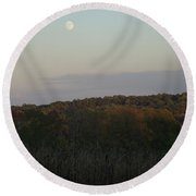 Autumn's Harvest Under The Moon Round Beach Towel