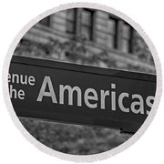 Avenue Of The Americas Round Beach Towel