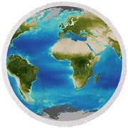 Average Plant Growth Of The Earth Round Beach Towel