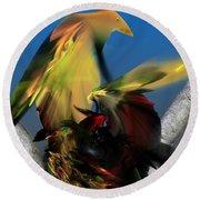 Avian Dreams Series 1-1311 Round Beach Towel