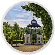 Aviary At Schonbrunn Palace Round Beach Towel