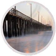 Avila Beach Pier California 5 Round Beach Towel
