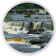 Aysgarth Falls Wensleydale Round Beach Towel
