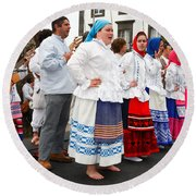 Azorean Folk Music Group Round Beach Towel