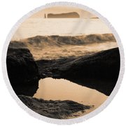 Azores Islands Seascape Round Beach Towel