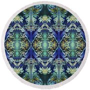 Azuraz Candle Tiled Round Beach Towel