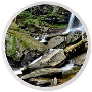 B Reynolds Falls Round Beach Towel by Frozen in Time Fine Art Photography