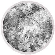 Abstraction 524 - Marucii Round Beach Towel