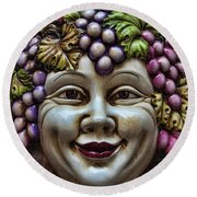 Bacchus God Of Wine Round Beach Towel