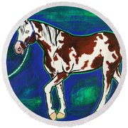 Back To The Barn Round Beach Towel