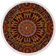 Back To The Roots Round Beach Towel