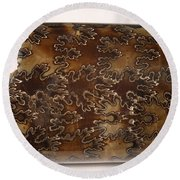 Baculites Fossil Round Beach Towel
