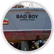 Bad Boy 0118 Round Beach Towel