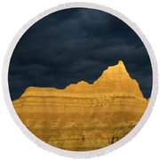 Badlands Early Light Round Beach Towel