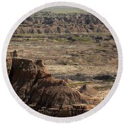 Badlands Round Beach Towel