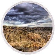 Badlands Of South Dakota Round Beach Towel