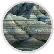 Badlands Splendor Round Beach Towel