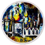 Baghdad  Round Beach Towel by David Lee Thompson