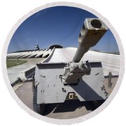 Baghdad, Iraq - An Iraqi Howitzer Sits Round Beach Towel by Terry Moore