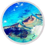 Bahama Out Island Filtered Round Beach Towel