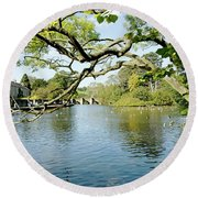 Bakewell Riverside - Through The Branches Round Beach Towel