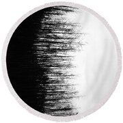 Balance Of Branches  Round Beach Towel