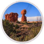 Balance Rock I Round Beach Towel