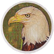 Bald Eagle Embroidered Round Beach Towel