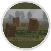 Bales For Sails Round Beach Towel
