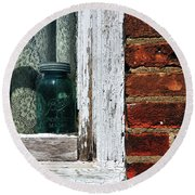 Ball Jar And Lace Round Beach Towel