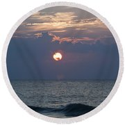 Ball Of Fire Round Beach Towel