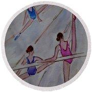 Ballerina Studio Round Beach Towel